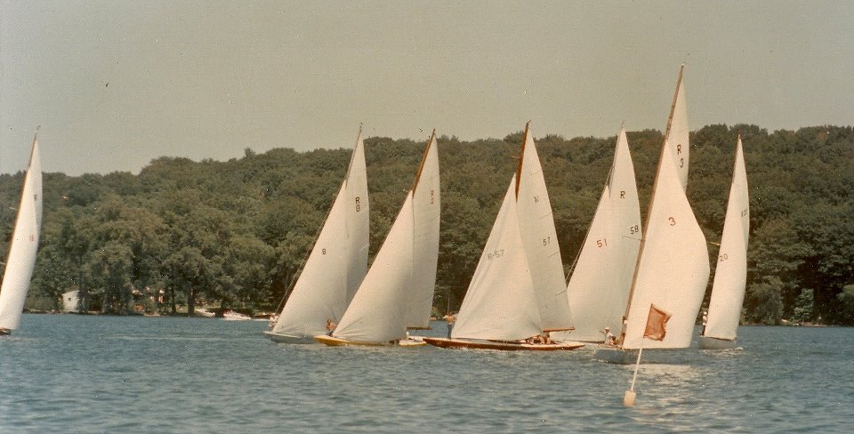 Classic R Boats Sailing Sodus Bay